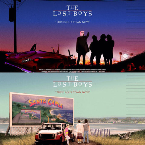 Set of 2 Lost Boys Alternative Movie Posters- Sunrise & Sundown (A2)