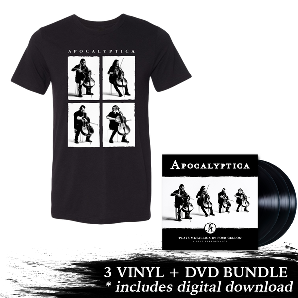 Plays Metallica Live Performance 3 LP + DVD + 4 Photo Tee Bundle