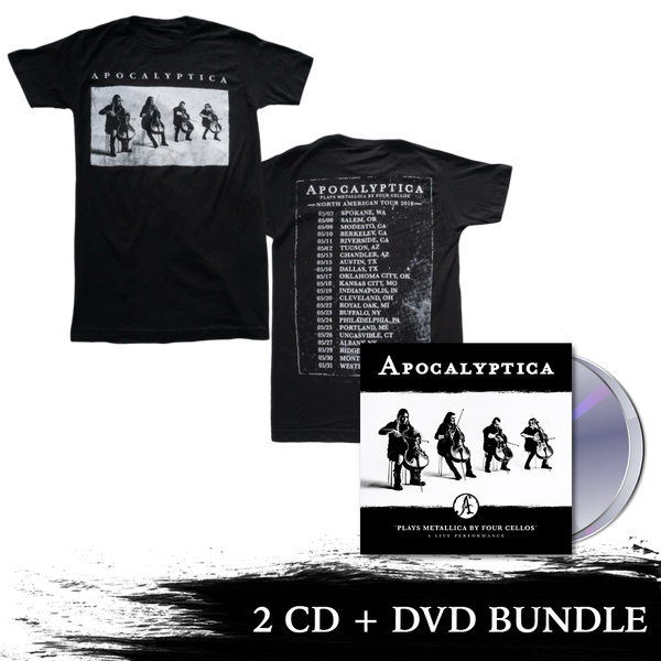 Plays Metallica Live Performance 2 CD + DVD + 2018 Tour Tee Bundle