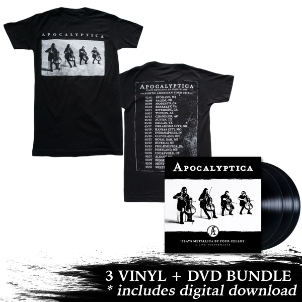 Plays Metallica Live Performance 3 LP + DVD + 2018 Tour Tee Bundle