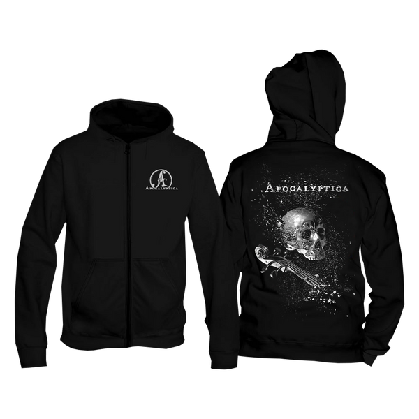 SHINY SKULL CELL-0 ZIP UP HOODIE