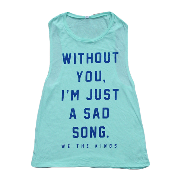 Sad Song Mint Sleeveless Tank
