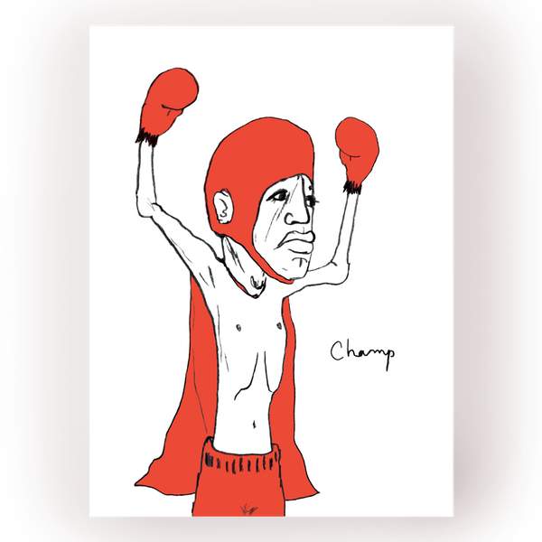 "Champ - lithograph - 8.5""X11"""