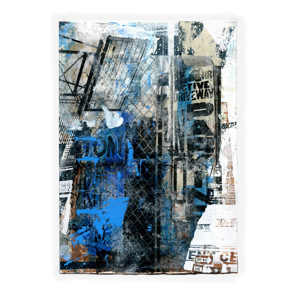 Bed Stuy 112167 - silk screen & acrylic on wood panel