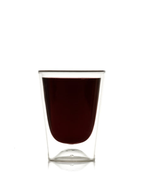 Red Stemless Wine Glass