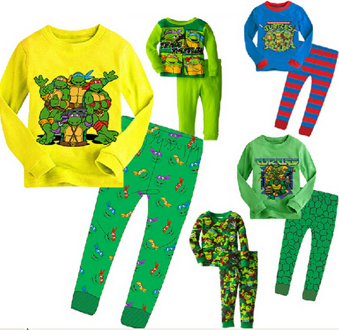 Ninja Turtles Pajamas Baby Boys Sleepwear clothes set - The Superhero Baby
