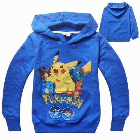 Pokemon Go Cartnon Baby T-Shirts Cothes Long Sleeve