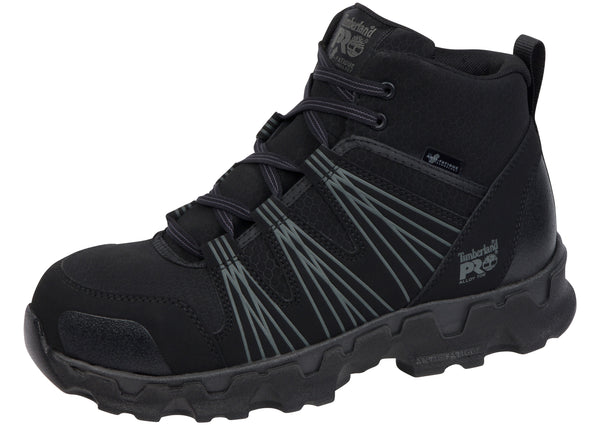 Timberland Pro Powertrain Mid Alloy Toe Black Synthetic