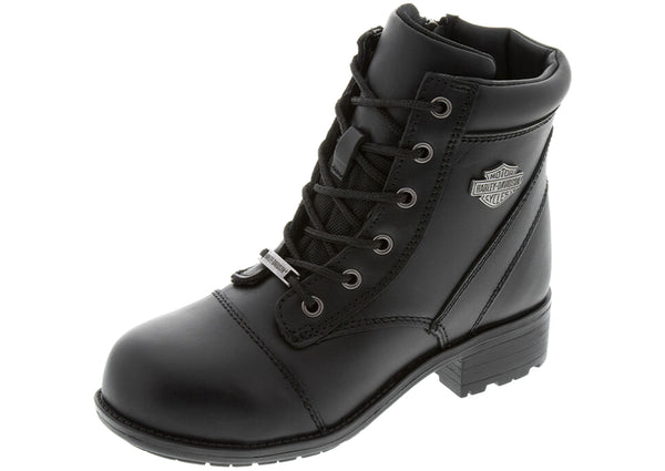 Harley Davidson Womens Raine Steel Toe Black