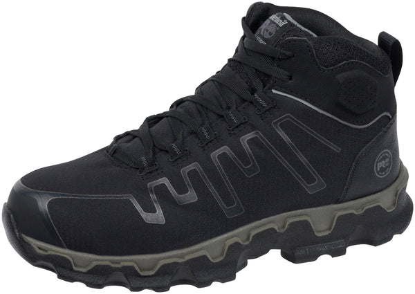 Timberland Pro Powertrain Sport Mid Alloy Toe Black Grey Ripstop Nylon