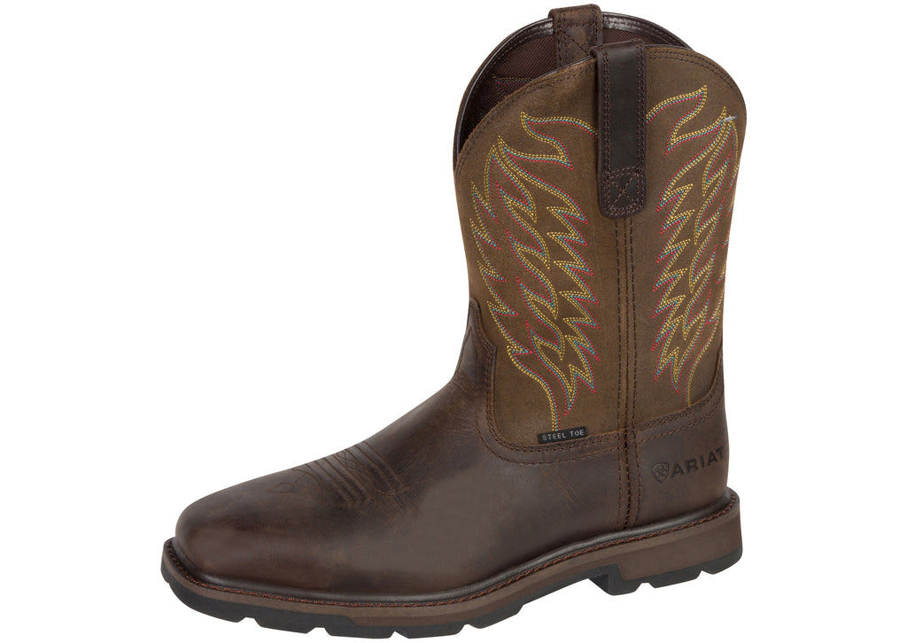 Ariat Groundbreaker Wide Square Toe Steel Toe Brown