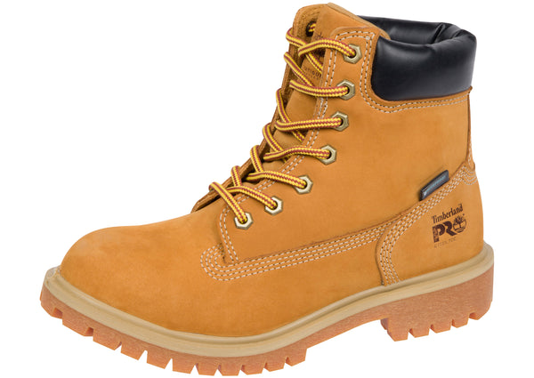 Timberland Pro Womens Direct Attach 6 Inch Steel Toe Wheat Nubuck