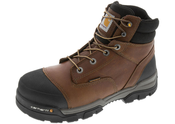 Carhartt 6-Inch Waterproof Work Boot Composite Toe Brown
