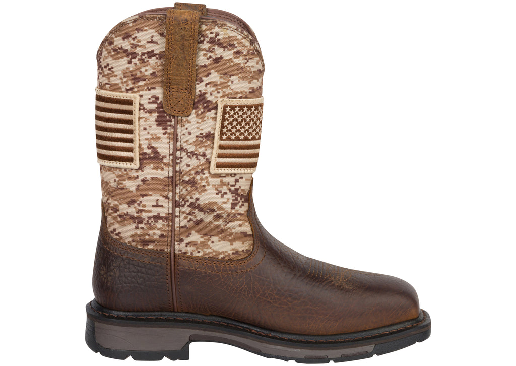 Ariat WorkHog Patriot Steel Toe Earth Sand Camo Print