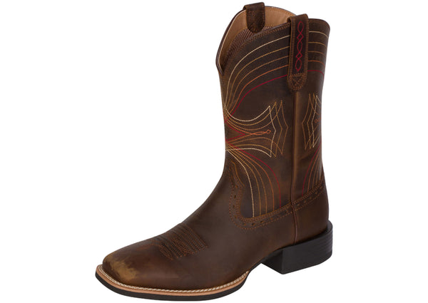 Ariat Sport Wide Square Toe Distressed Brown