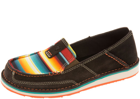 Ariat Womens Cruiser Chocolate Fudge Red Serape Print