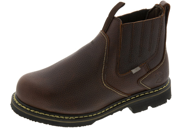 Iron Age Ground Breaker 6 Inch Slip On Internal MG Steel Toe Brown