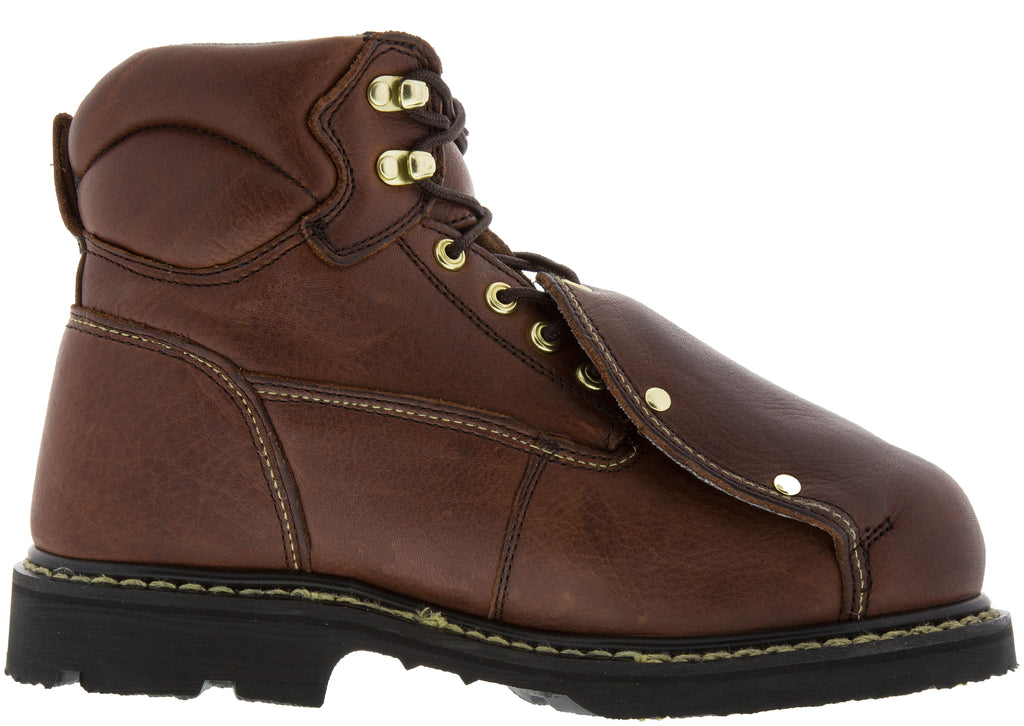 Iron Age Ground Breaker 6 Inch External Met Guard Boot Steel Toe Brown