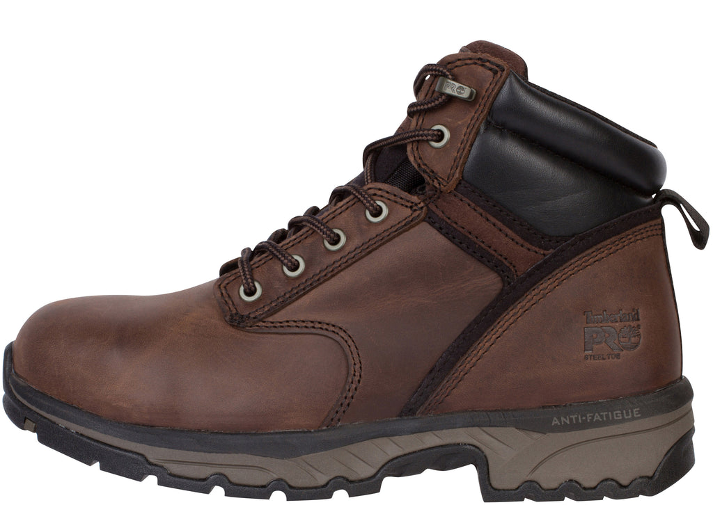 Timberland Pro Jigsaw 6 Inch Steel Toe Brown Full Grain Leather