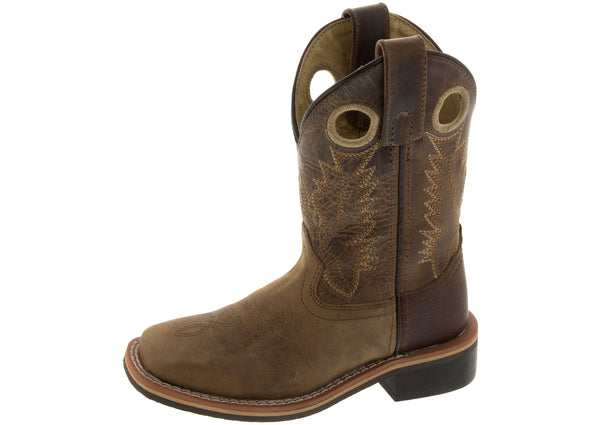 Smoky Mountain Boots Childrens Patt Jesse Brown Distressed Brown