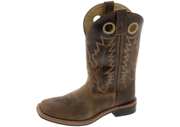 Smoky Mountain Boots Kids Patt Jesse Brown Distressed Brown