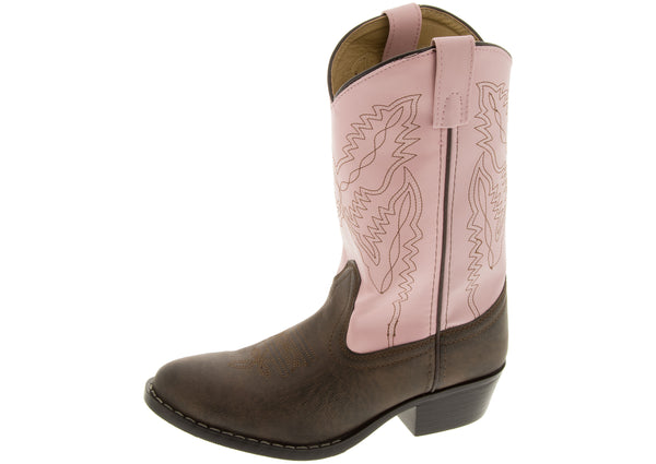 Smoky Mountain Boots Kids Patt Monterey Brown Pink
