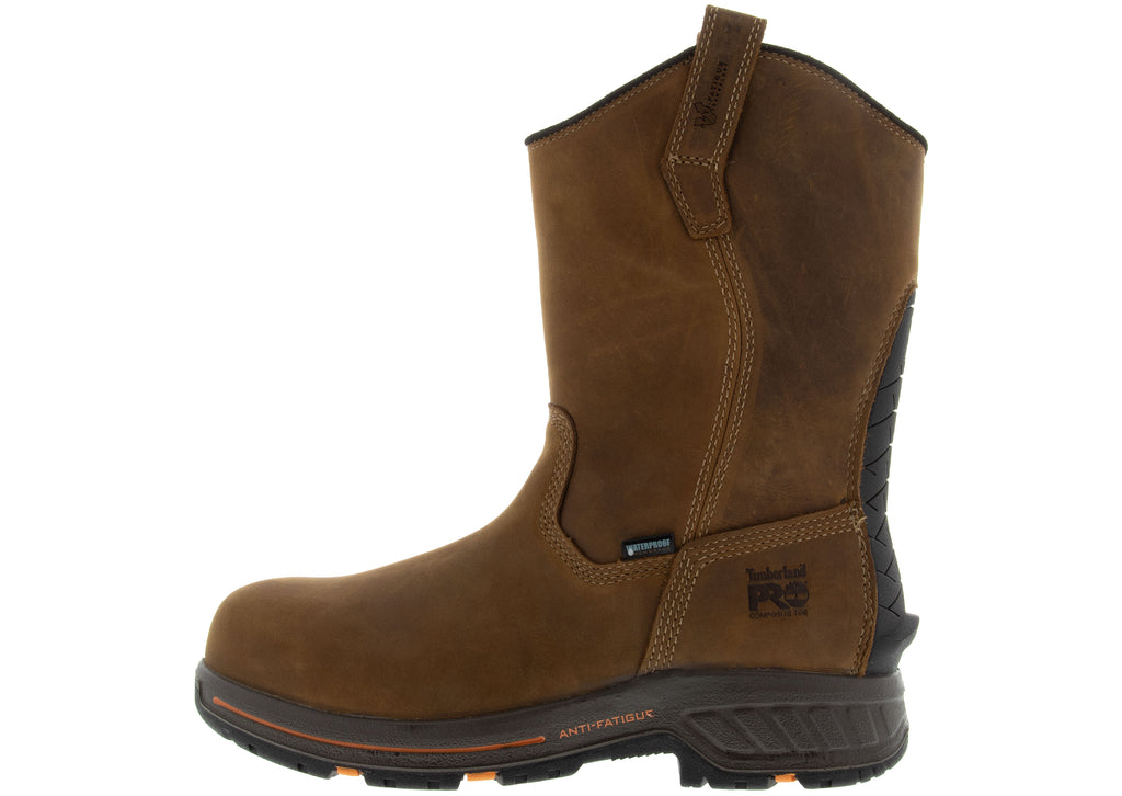 Timberland Pro Helix HD Pull On Composite Toe Brown Distressed Full Grain
