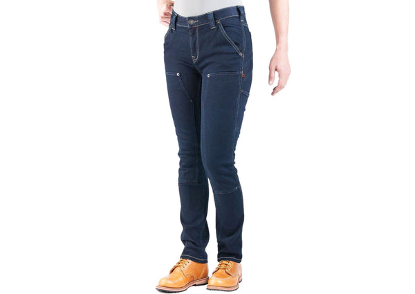Dovetail Workwear Womens Maven Slim Stretch Denim Indigo
