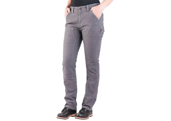 Dovetail Workwear Womens Maven Slim Stetch Canvas Dark Grey