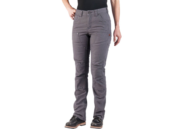 Dovetail Workwear Womens Britt Utility Stretch Canvas Dark Grey