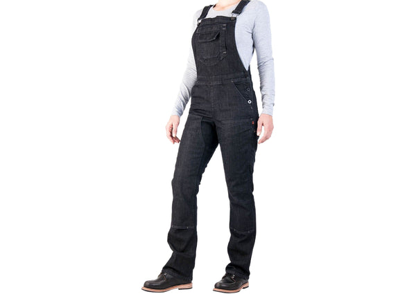 Dovetail Workwear Womens Freshley Overall Stretch Denim Black