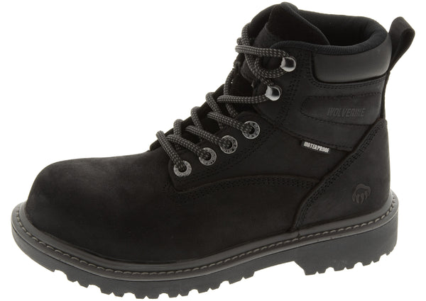 Wolverine Womens Floorhand Steel Toe Black