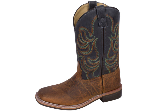Smoky Mountain Boots Kids Jesse Brown Navy