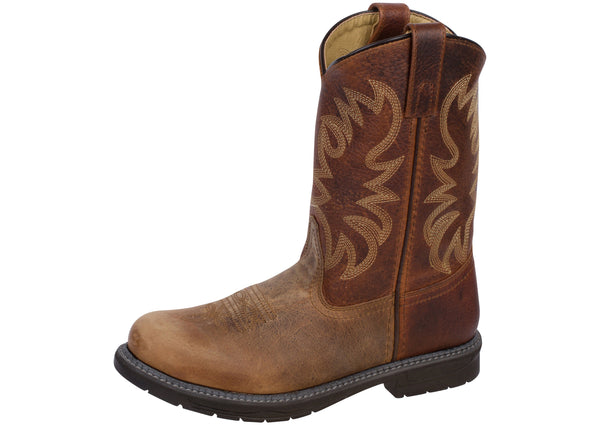 Smoky Mountain Boots Kids Buffalo Brown