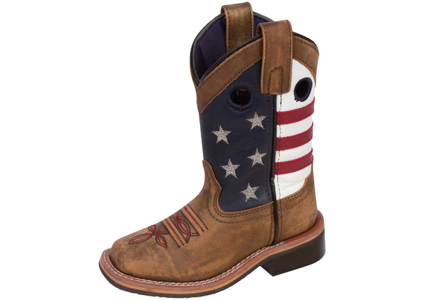 Smoky Mountain Boots Childrens Stars and Stripes Vintage Brown