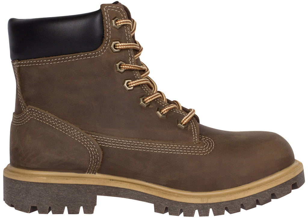 Timberland Pro Womens Direct Attach 6 Inch Steel Toe Brown Full Grain