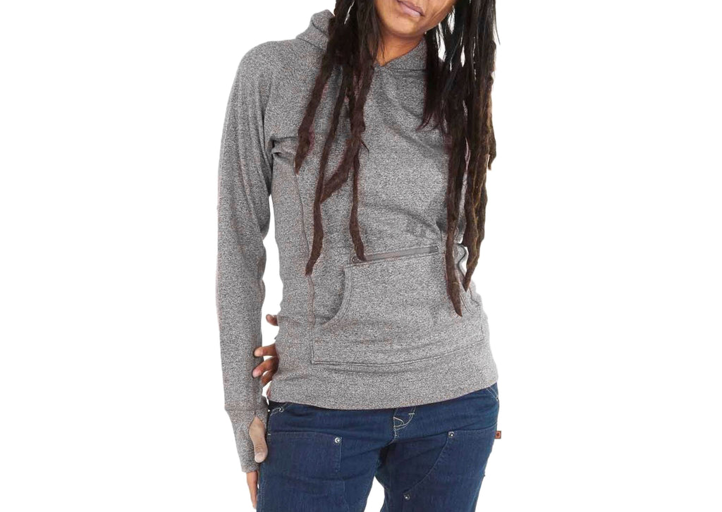 Dovetail Workwear Womens Pullover Hoody Grey Heather