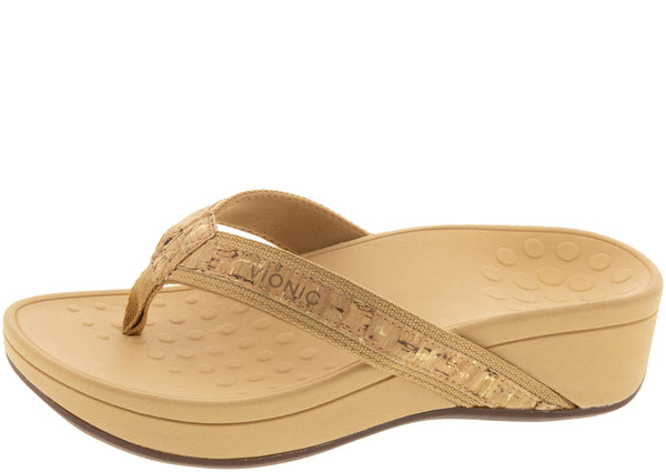 Vionic Womens High Tide Gold Cork