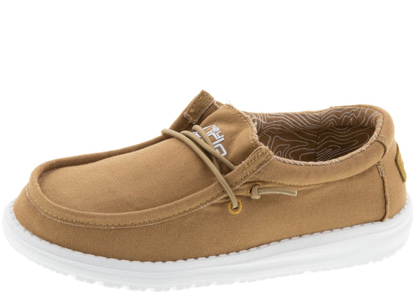 Hey Dude Kids Wally Youth Tan