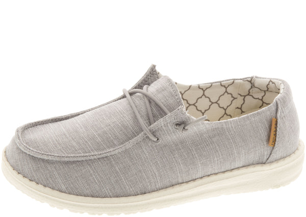 Hey Dude Kids Wendy Youth Linen Grey