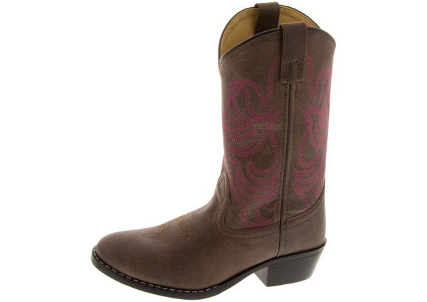 Smoky Mountain Boots Kids Monterey Brown Rose
