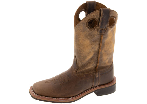 Smoky Mountain Boots Childrens Waylon Brown Oil Distress Brown Distress