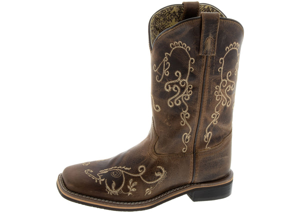 Smoky Mountain Boots Kids Marilyn Brown Waxed Distress