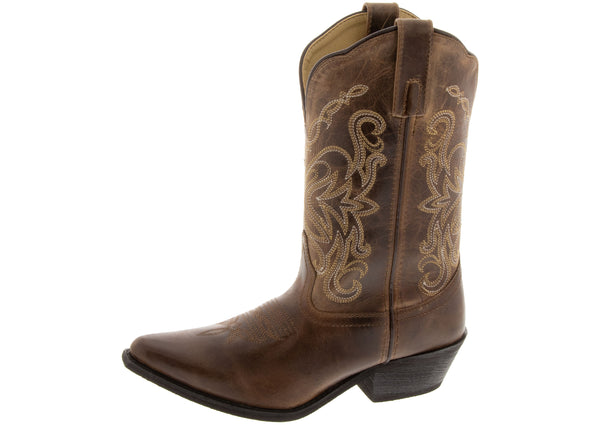 Smoky Mountain Boots Womens Madison Brown Distress