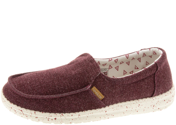Hey Dude Womens Misty Burgundy