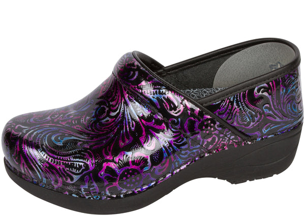 Dansko Womens XP 2.0 Patent Engraved Floral