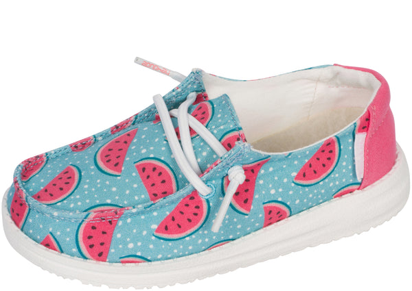 Hey Dude Kids Wendy Youth Azura Watermelon