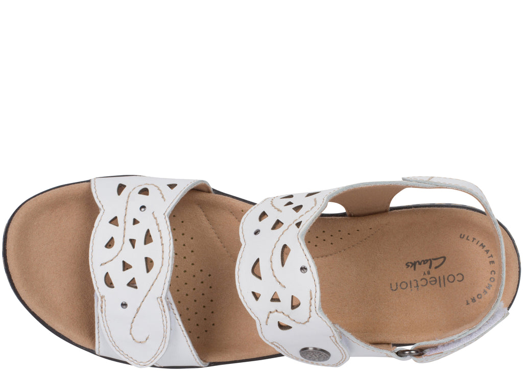 Clarks Womens Merliah Dove White Leather