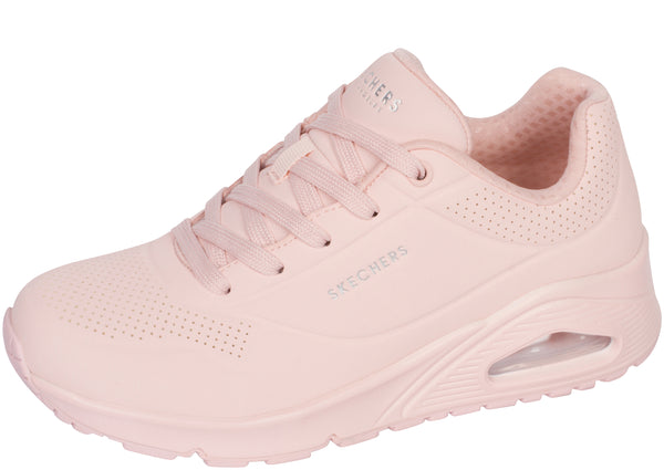 Skechers Womens Uno Frosty Kicks Light Pink