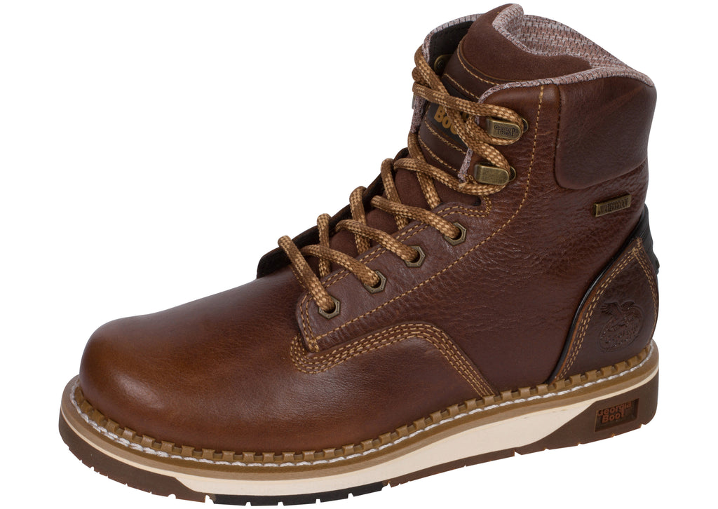 Georgia Boot AMP LT Wedge Composite Toe Dark Brown